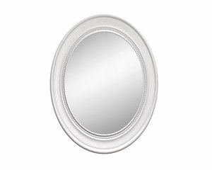 oval wooden wall mirror model