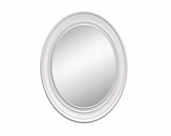oval wooden wall mirror model