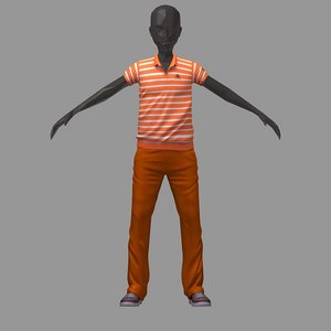 avatar casual set orange 3D