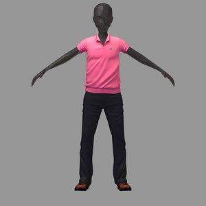 avatar casual set pink 3D model
