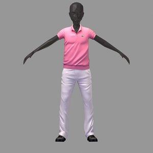 3D avatar casual set pink