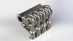 intake manifold length 3D