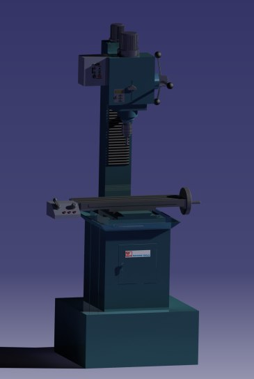 drilling machine 3D model