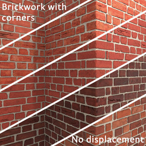 brickwork bricks corner wall 3D