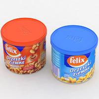 3D intersnack felix nut cans