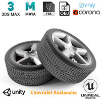 armrend car wheel chevrolet avalanche 3D model