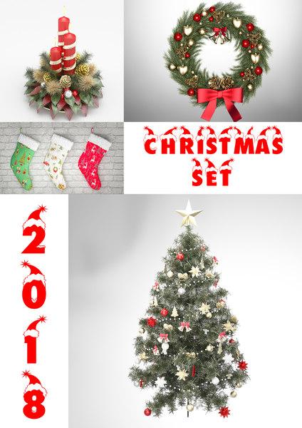 3D christmas decoration model