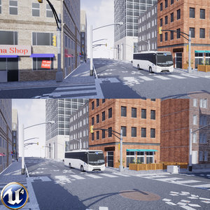 urban building road pack 3D model