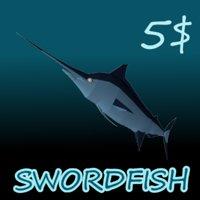 3D swordfish fish