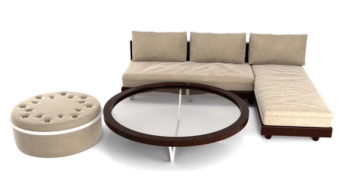livingroom set 3D model