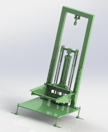 3D heavy load lifting mechanism model
