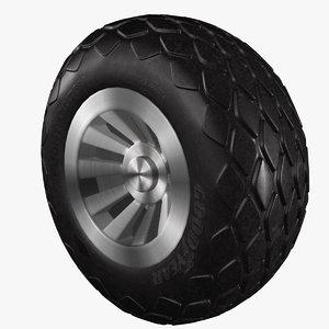 3D p-51 mustang diamond tread tire