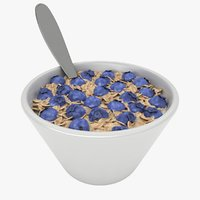3D model oatmeal bowl 3