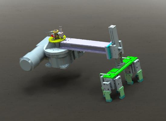 3D rotating clamping mechanism model