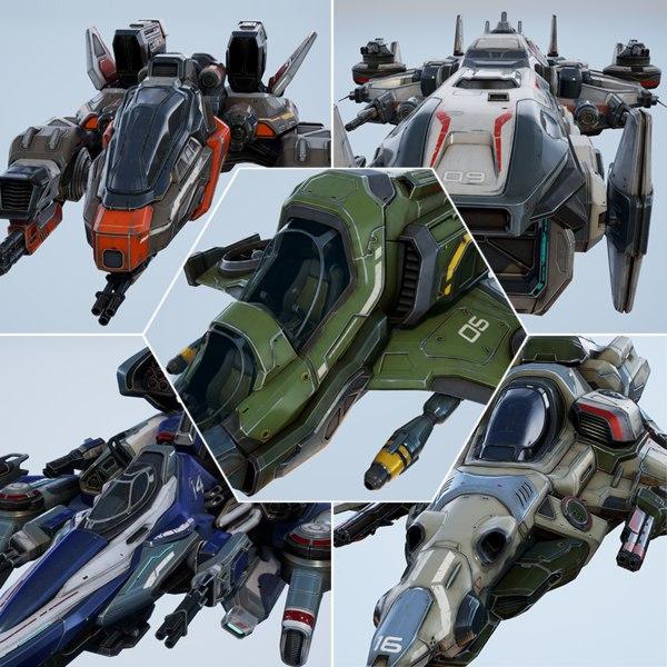 spaceships essential pack - model