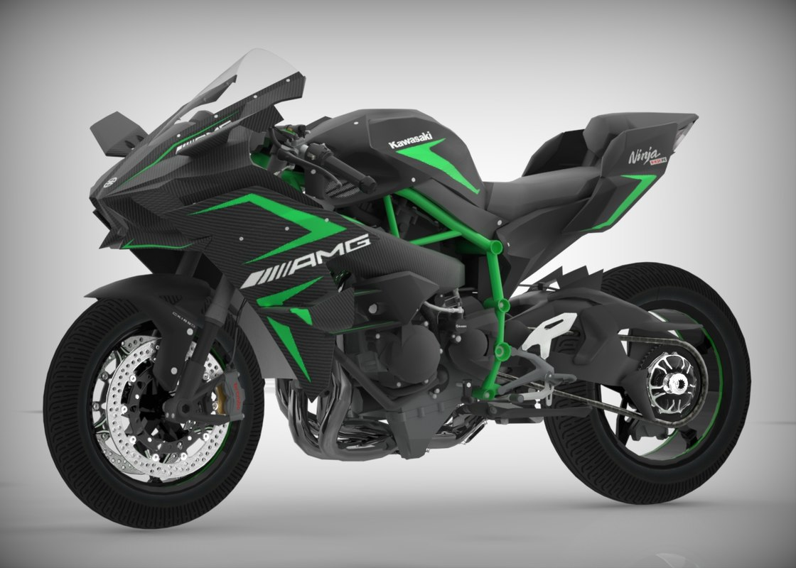 3d model kawasaki ninja h2r turbosquid 1226855. Black Bedroom Furniture Sets. Home Design Ideas