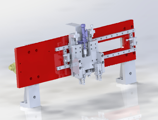 cylinder clamping mechanism 3D model