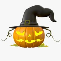 3D halloween pumpkin