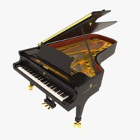 steinway sons concert grand piano 3D