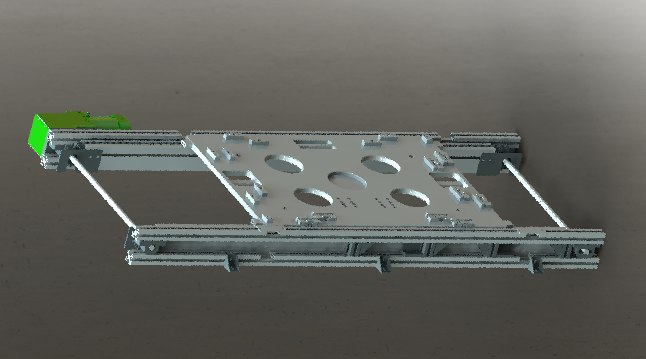 3D conveyor belt chain model