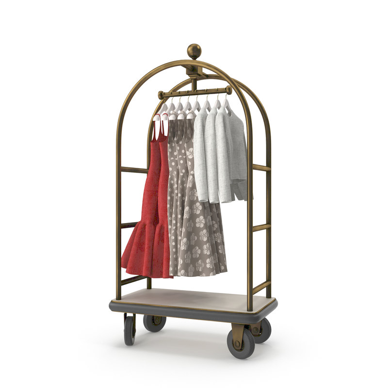 hotel luggage carts 3D model