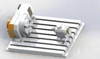 uniaxial processing platform 3D model