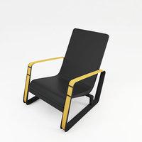 3D arm chair zx model