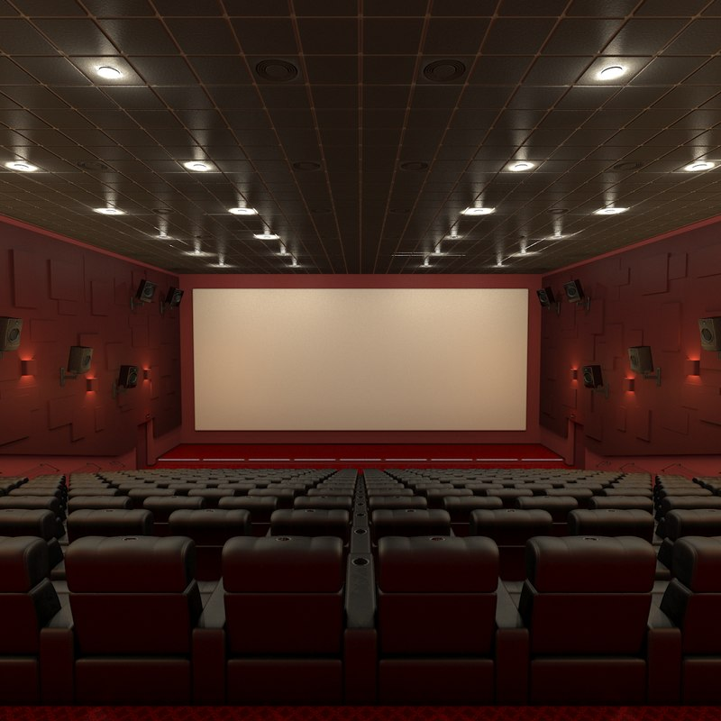 3D model movie theater