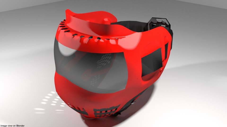 3D facemask mask paintball