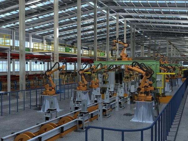 warehouse interior factory 3D model