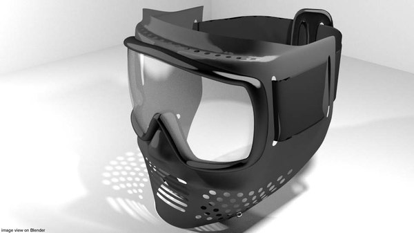 facemask mask paintball 3D model