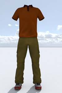 3D male outfit model