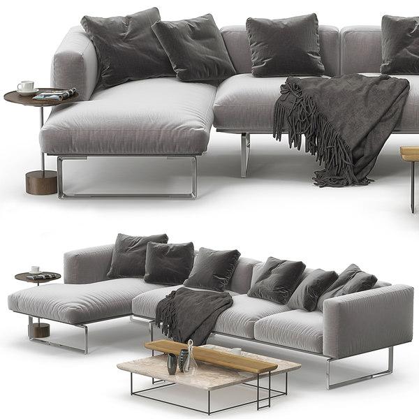 cassina 206 cube corner sofa model
