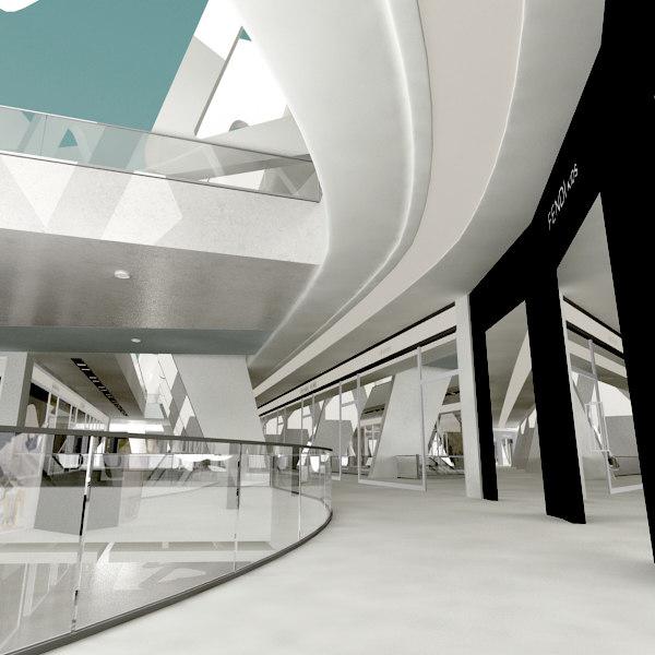 3D shopping mall model