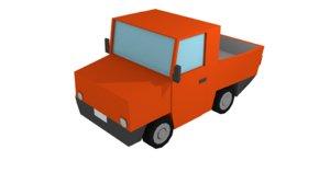 pickup truck cartoon 3D model