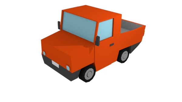 pickup truck cartoon 3D model
