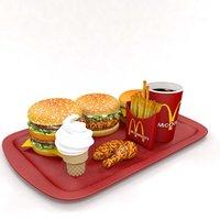 3D mcdonald s fast food