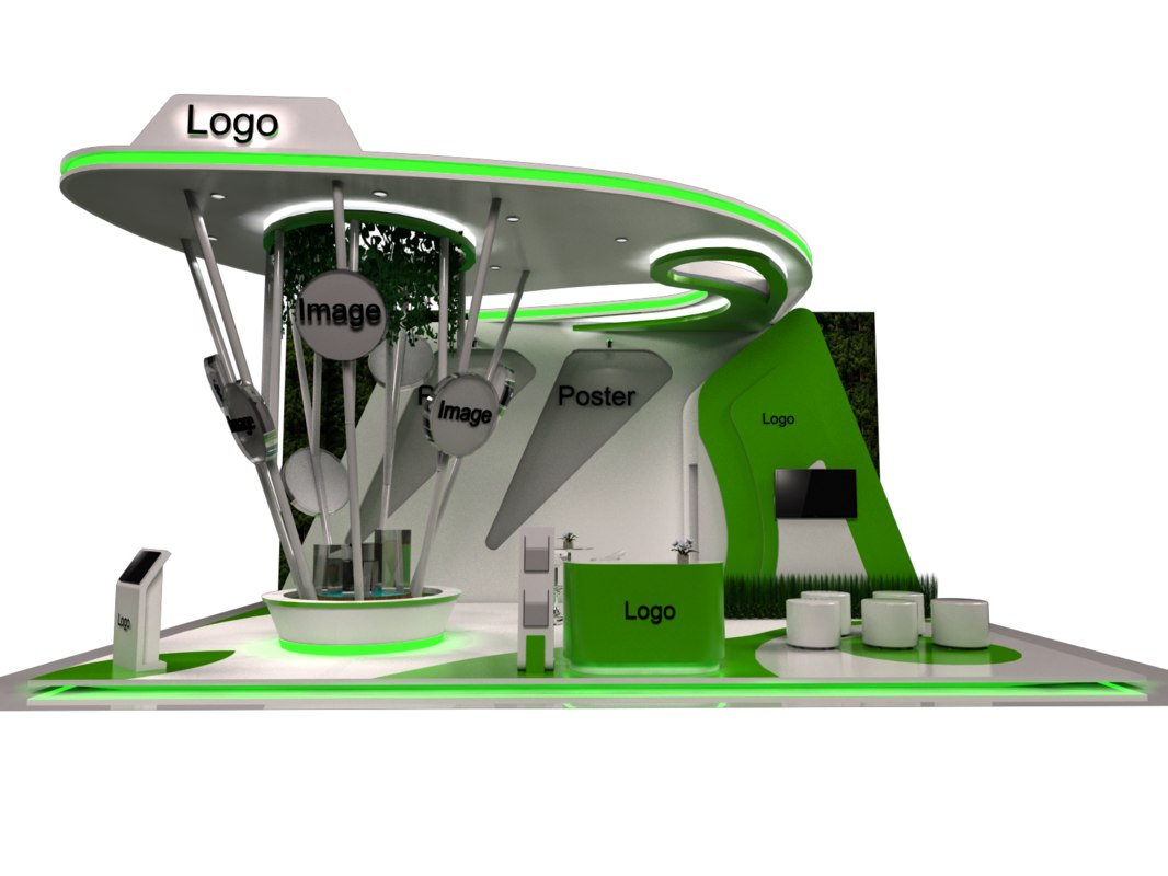 Exhibition Stand 3d Model Sketchup : D nature stand exhibition booth model turbosquid
