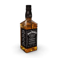 jack daniels 70cl bottle 3D model