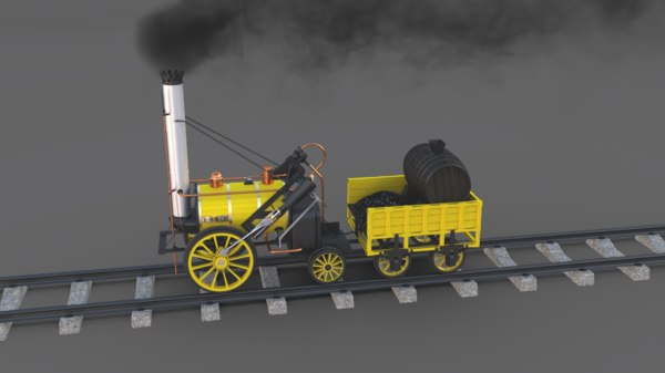 3D steam locomotive rocket engine