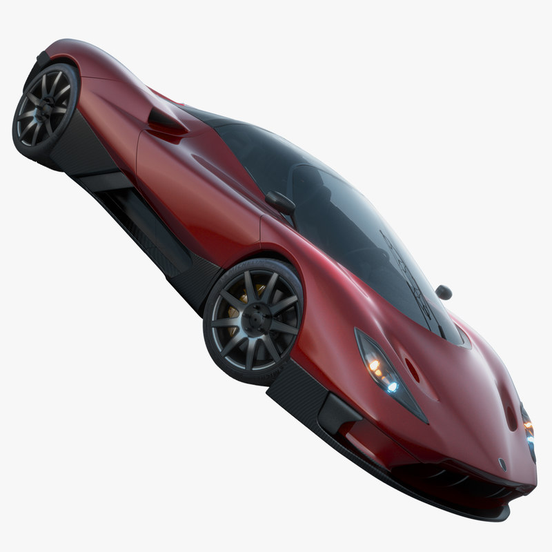 3D fictional sports car model