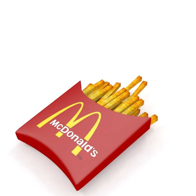 french fries 3D model