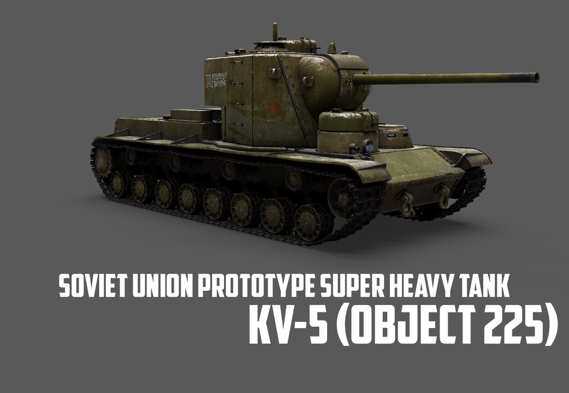 kv-5 object 225 soviet tank 3D