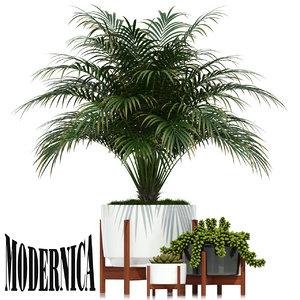 plants 68 modernica pots 3D model