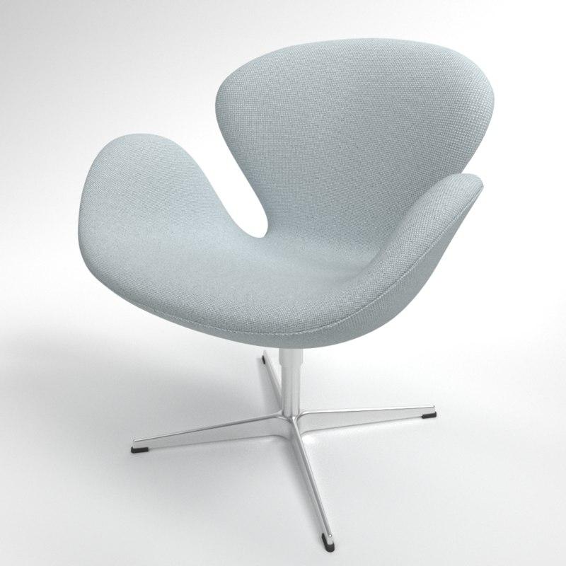 3D interior fritz hansen swan model