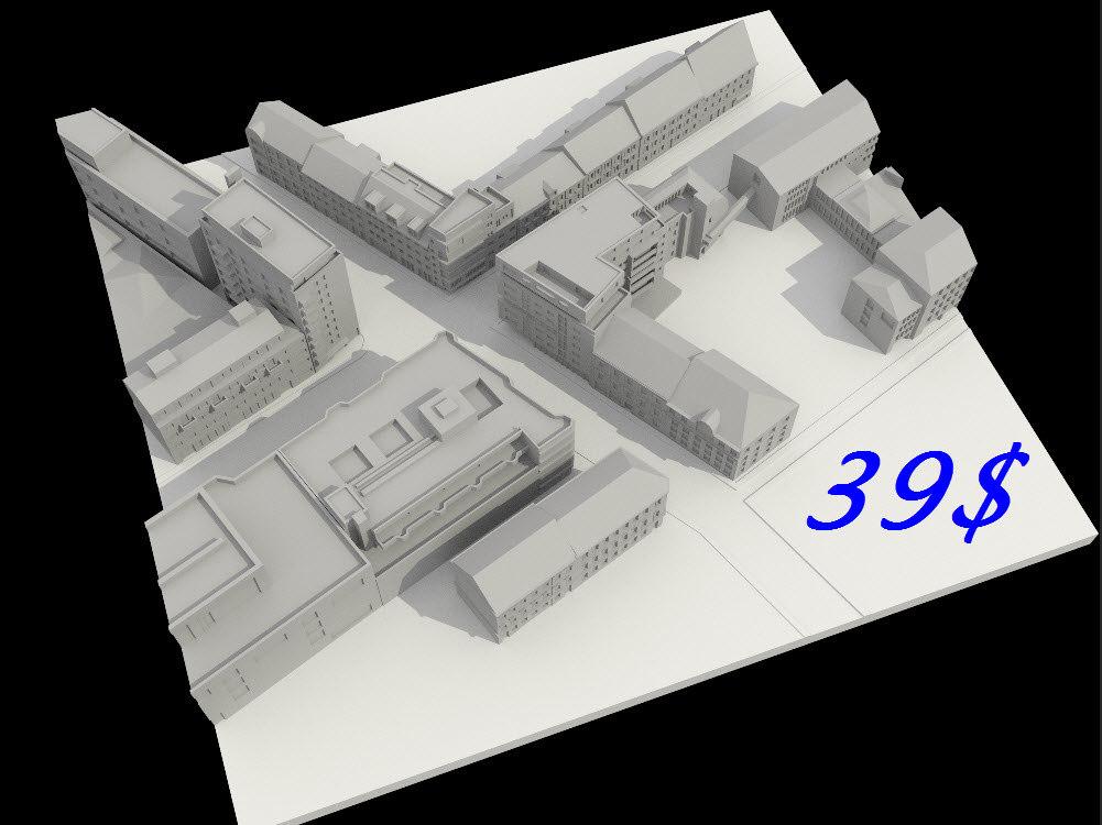 city town 3D model