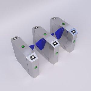 3D model indoor entrance control