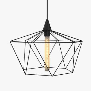 3D ceiling lamp light model