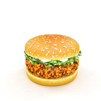 hamburger burger 3D