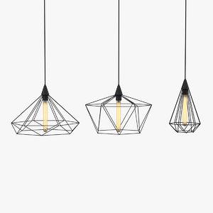 3D model ceiling lamps